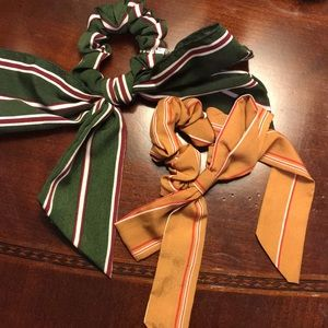 Anthropologie hair ties bows NEW striped fall